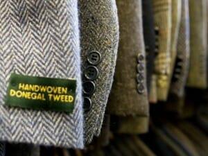 handwoven donegal tweed