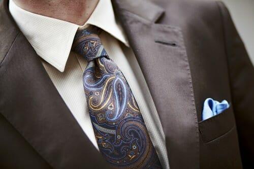 krawat w nowoczesne wzory