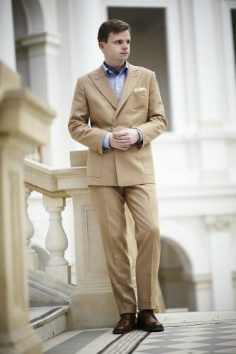 elegancka chustka męska koszula