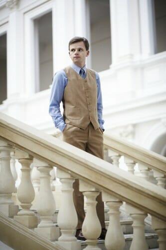 spodnie z jedną saszewką