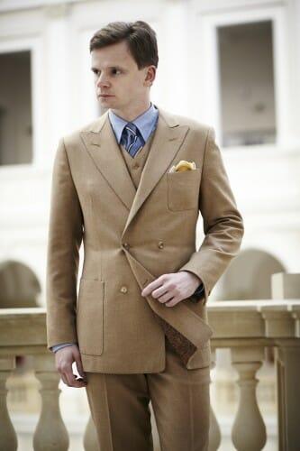 trzyczęściowy garnitur