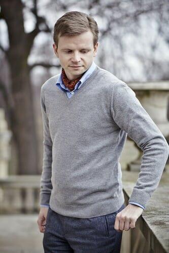 Spodnie tweedowe Carlo Barbera