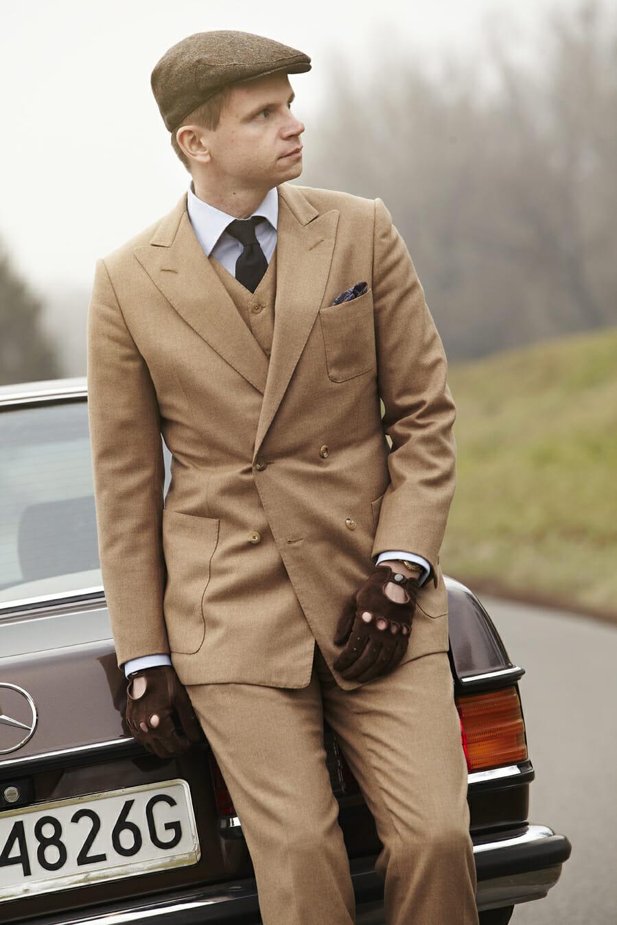 Flanelowy garnitur, Mercedes Benz w123 copue i Roman Zaczkiewicz