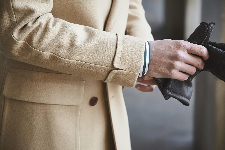 Detale płaszcza polo