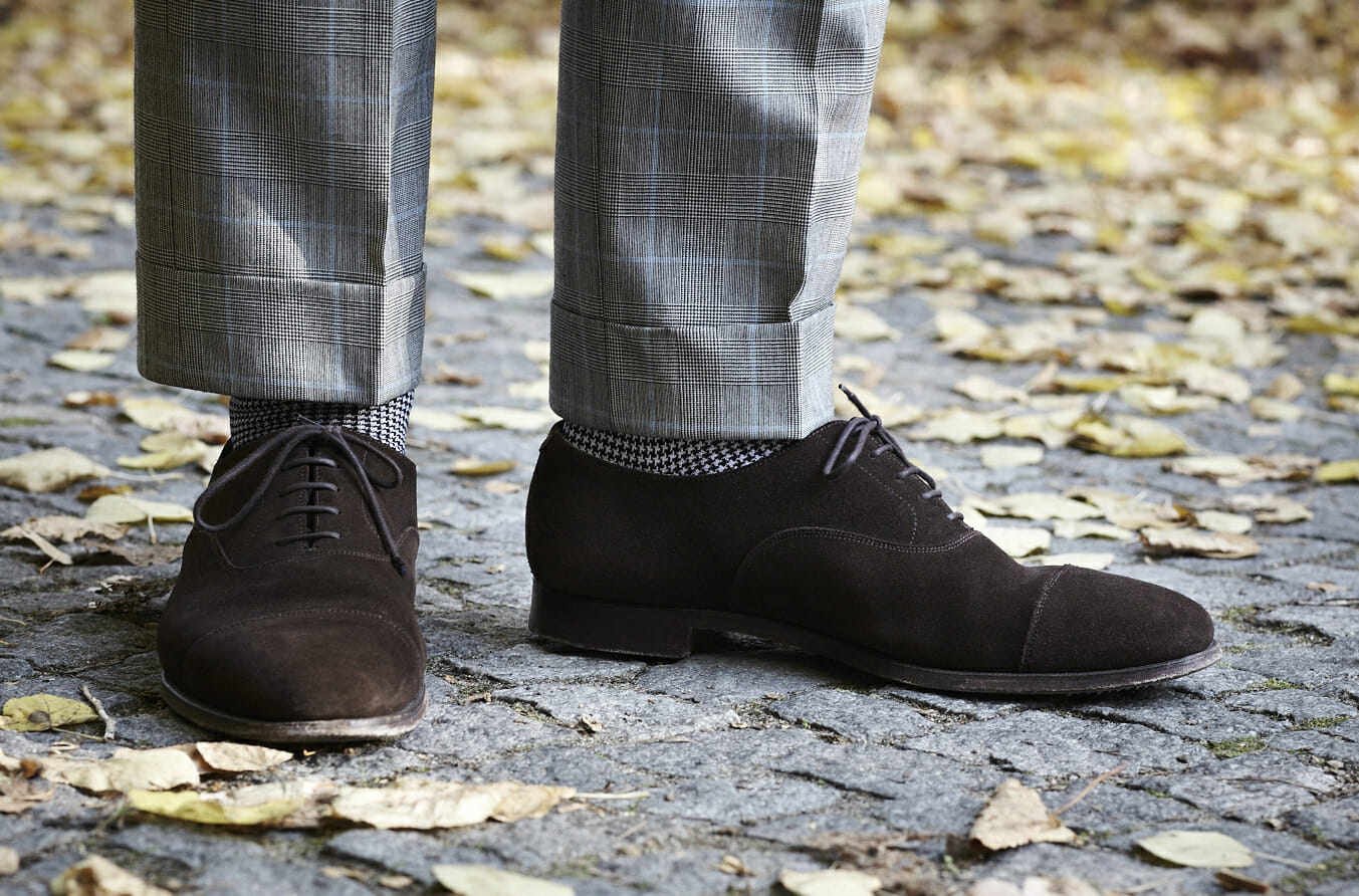 Zamszowe wiedenki Crockett & Jones