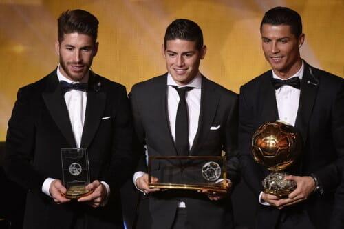 Gracze Realu Madryt najlepiej ubrani na gali Złotej Piłki 2014