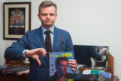 Roman Zaczkiewicz i magazyn Male Men