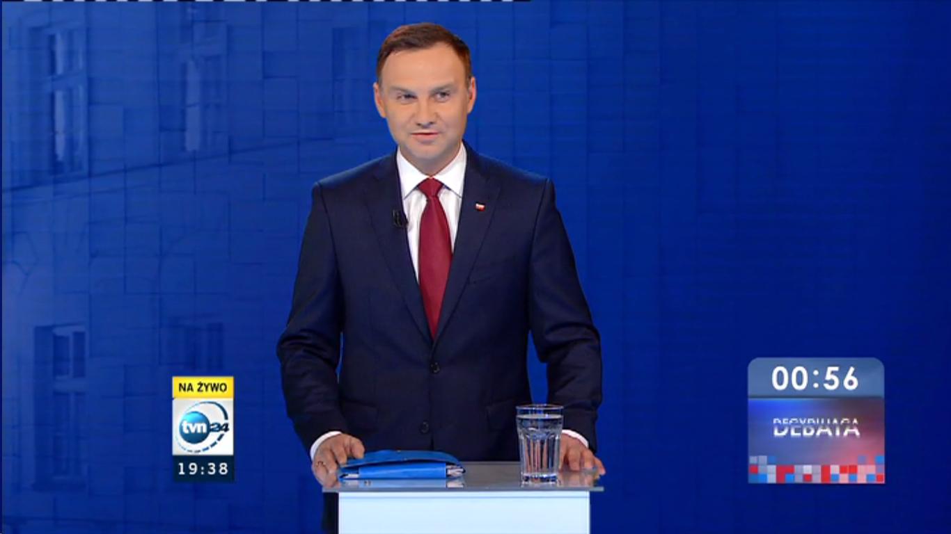 Andrzej Duda w TVN
