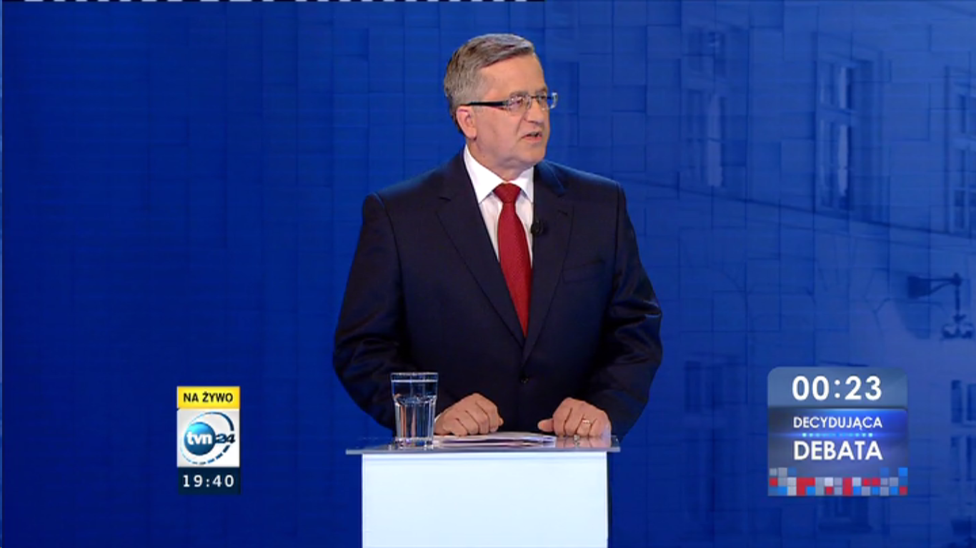 Bronisław Komorowski w TVN