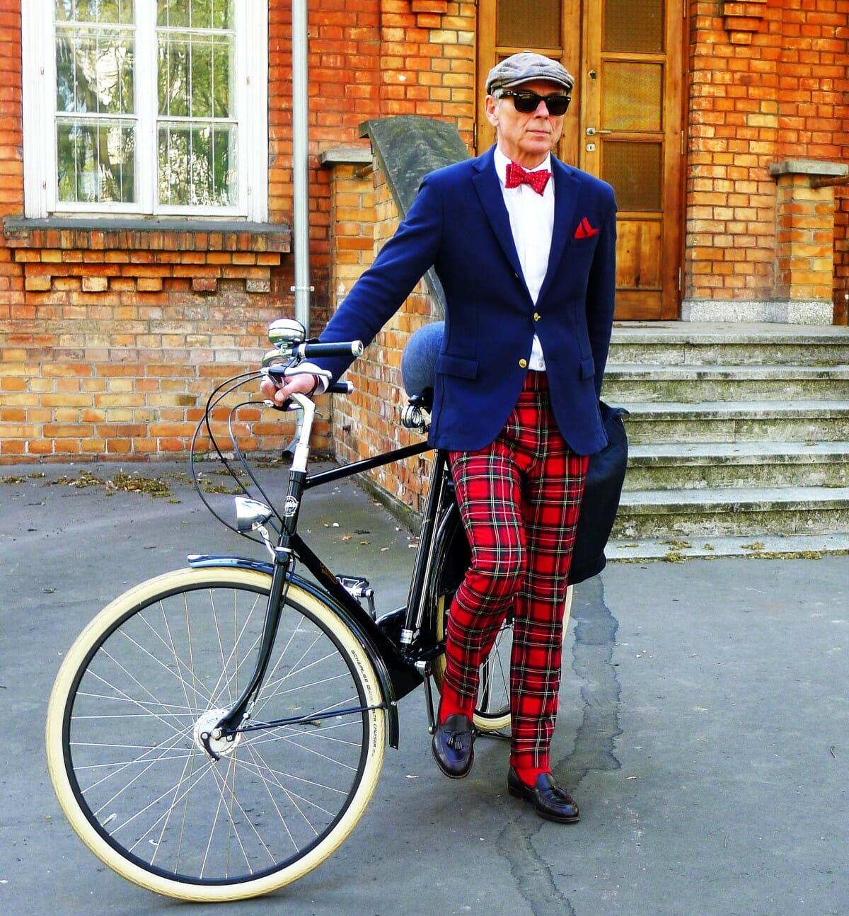Styleman spodnie w kratę duże