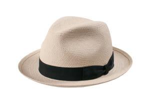 jasnobeżowy kapelusz panama fedora