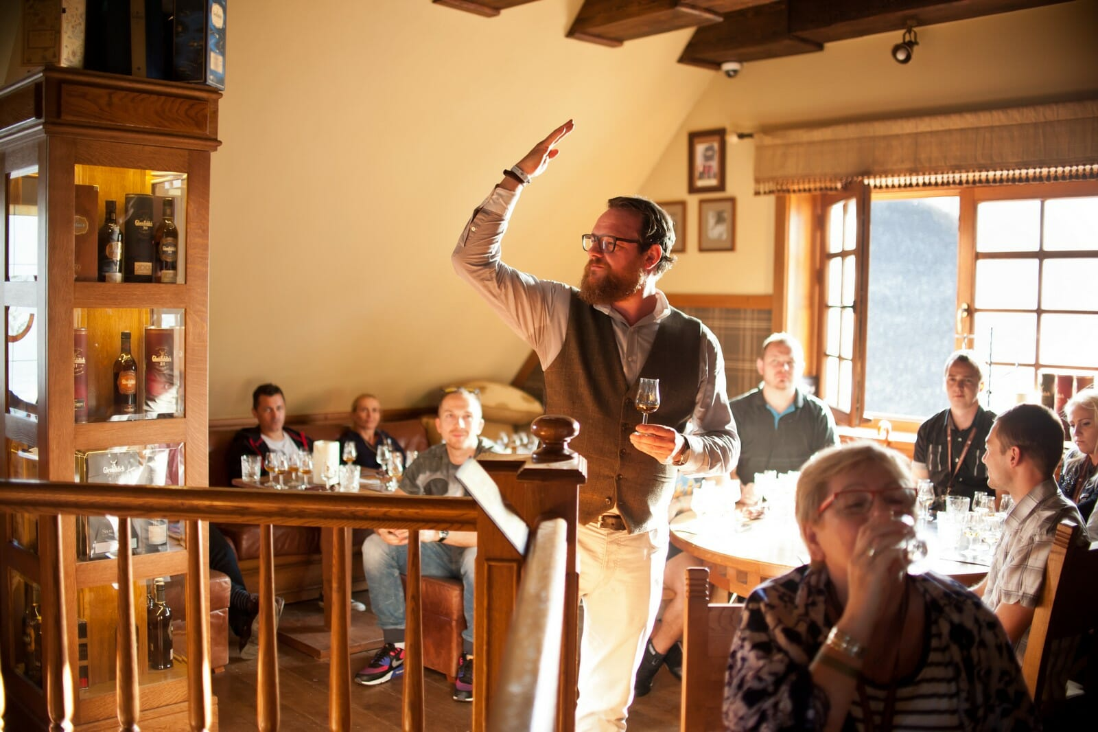 James Buntin z The Balvenie podczas masterclass