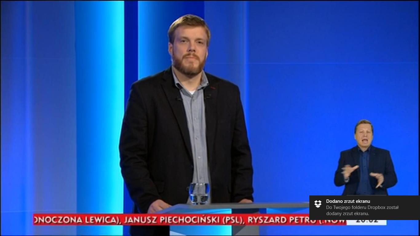 Adrian Zandberg debata liderów