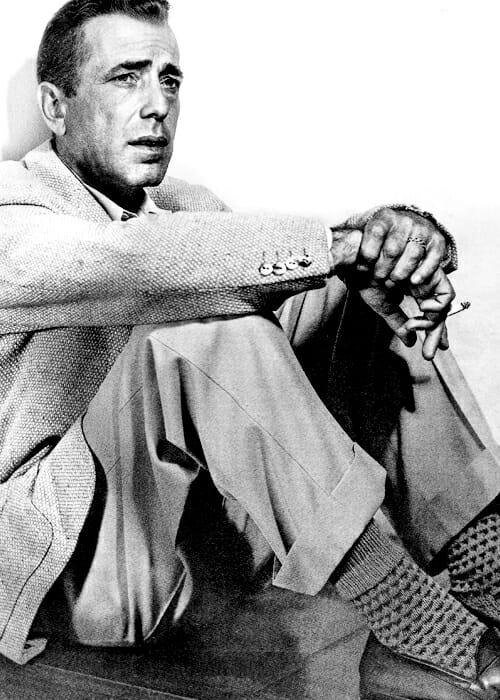 Humphrey Bogart w barleycorn tweed