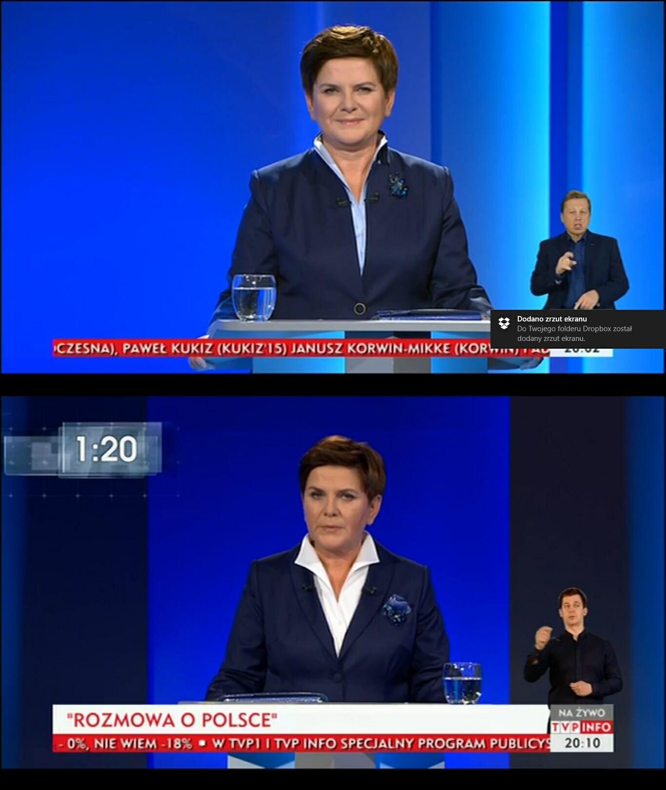 Beata Szydło debata liderów-vert