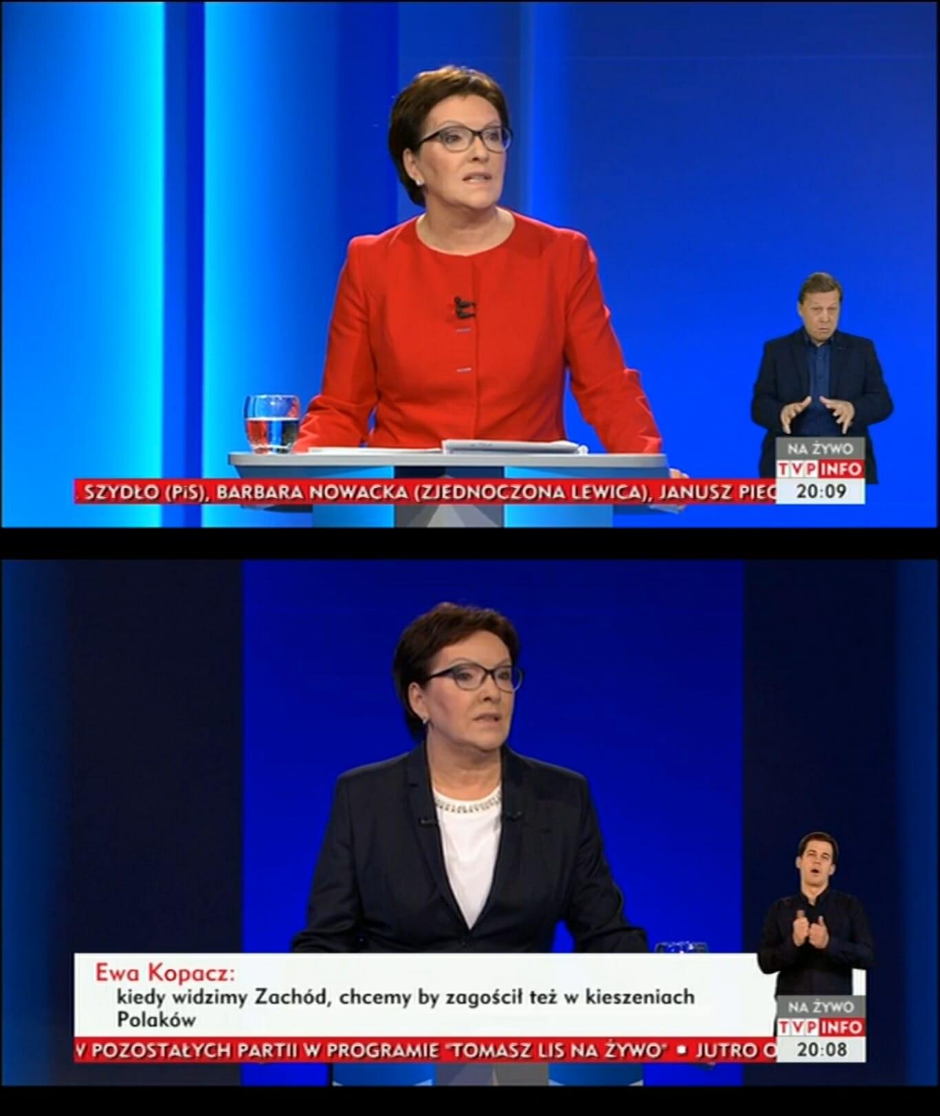 Ewa Kopacz debata liderów-vert