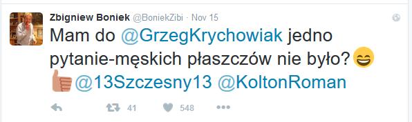 boniek o płaszczu Krychowiaka na Twitterze