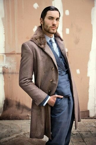 fur-collar-coat-blazer-waistcoat-dress-shirt-dress-pants-tie
