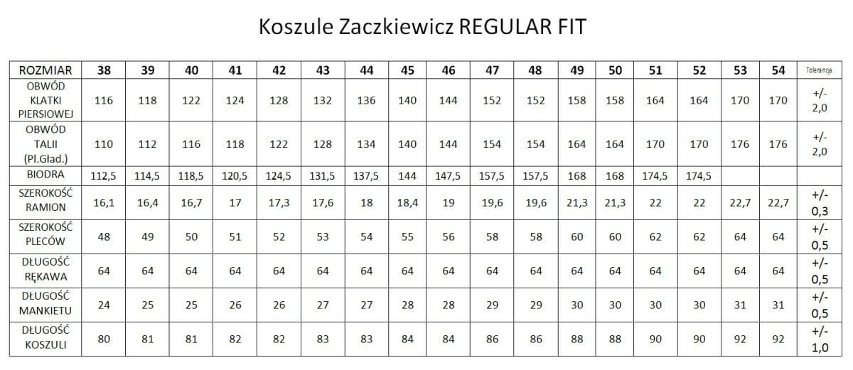 koszule zaczkiewicz regular fit