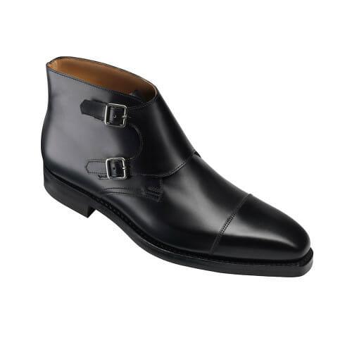czarne męskie buty monks