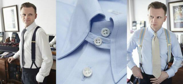 Koszule tab collar