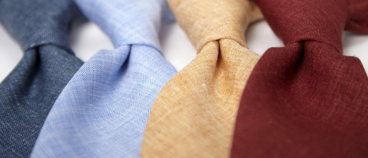 krawat ślubny lniany