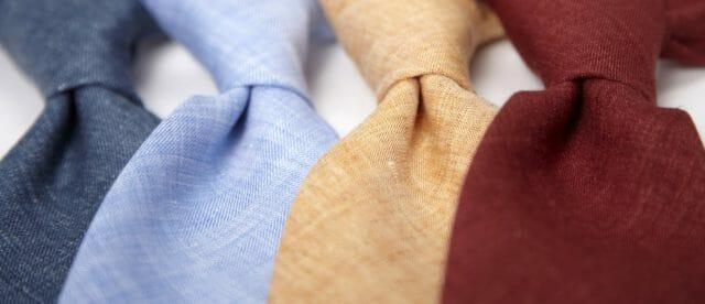 Letnie krawaty z lnu
