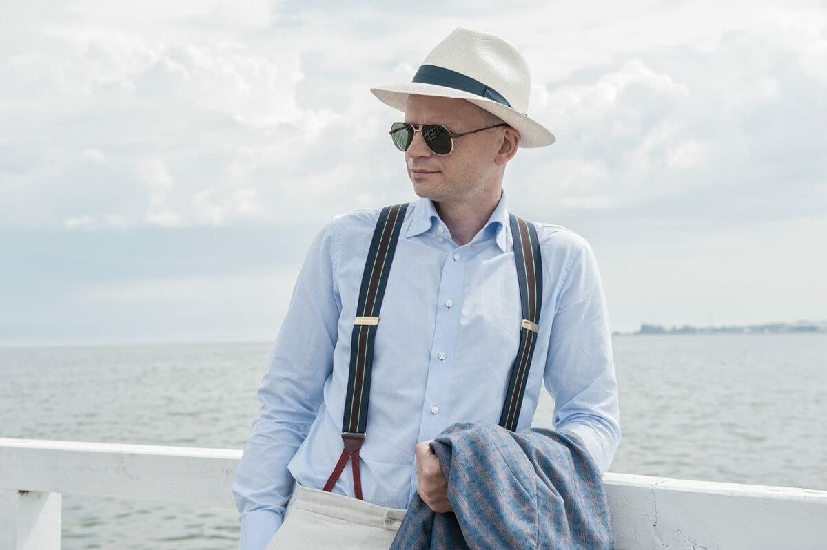 W koszuli z zefiru na molu w Brzeźnie (Gdańsk) Fot. Marcin Michno