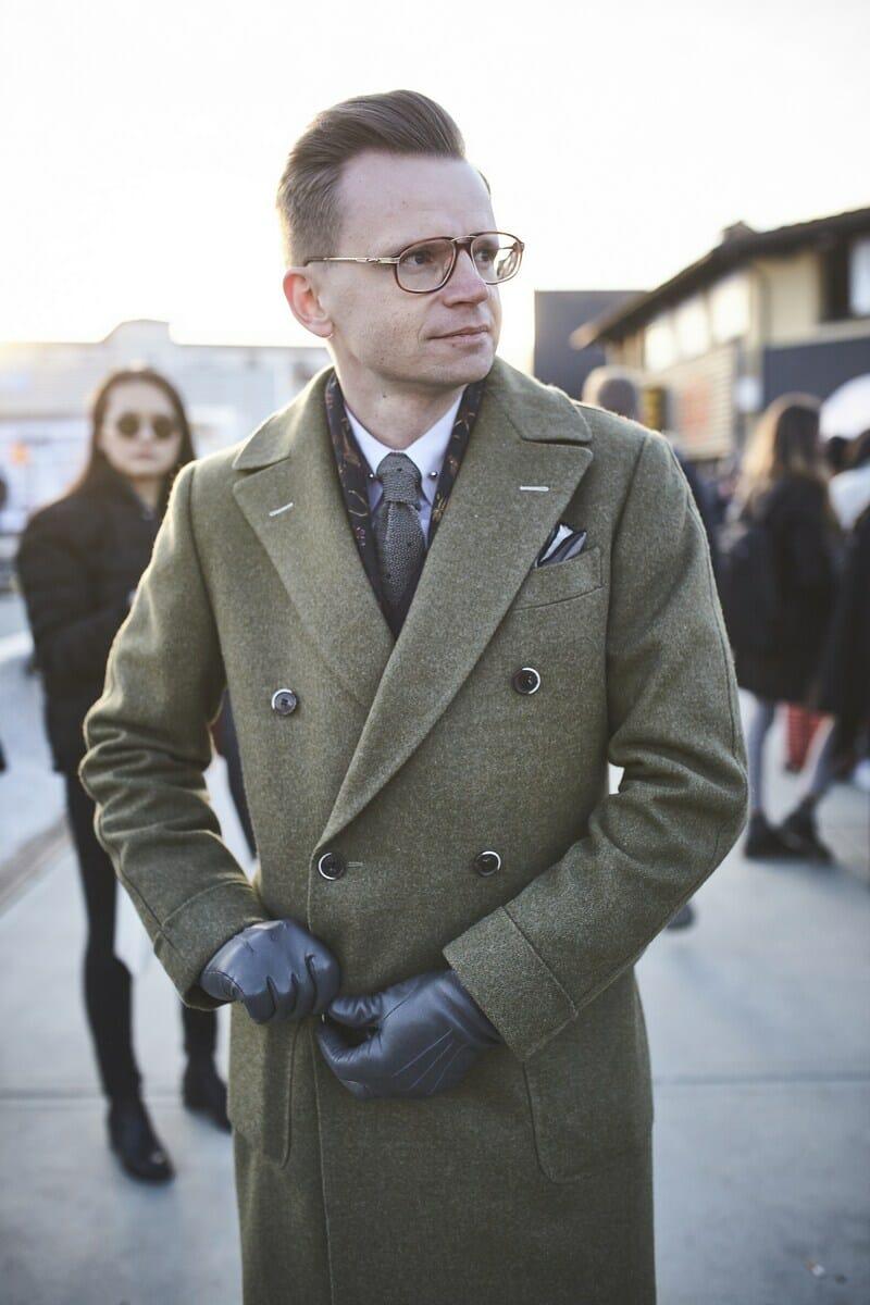 British Warm Green topcoat