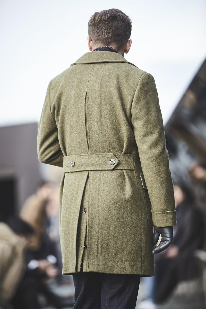 dwurzędowy płaszcz ulster