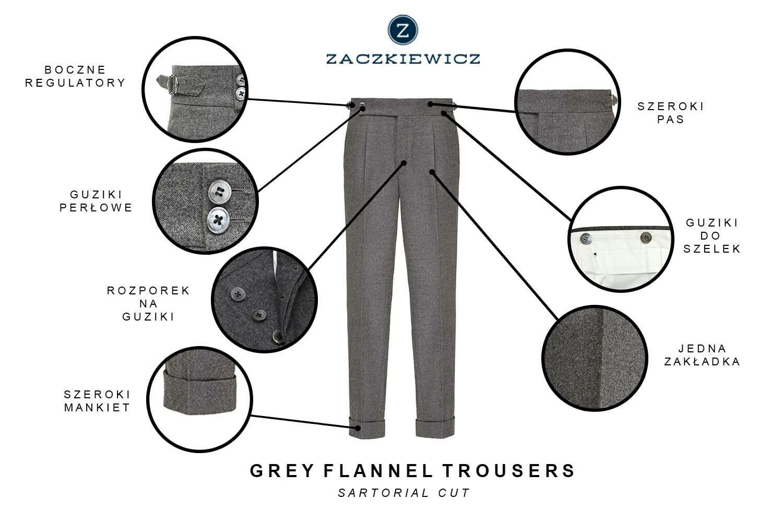 flanelowe spodnie zaczkiewicz