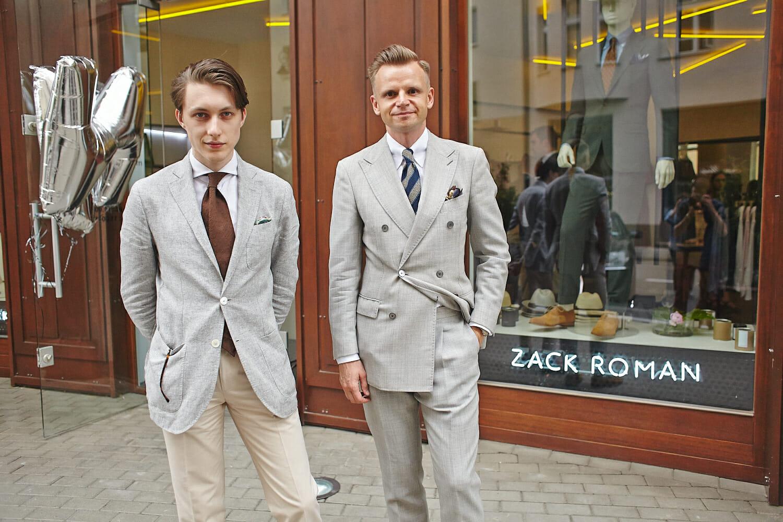 stylowe szare garnitury