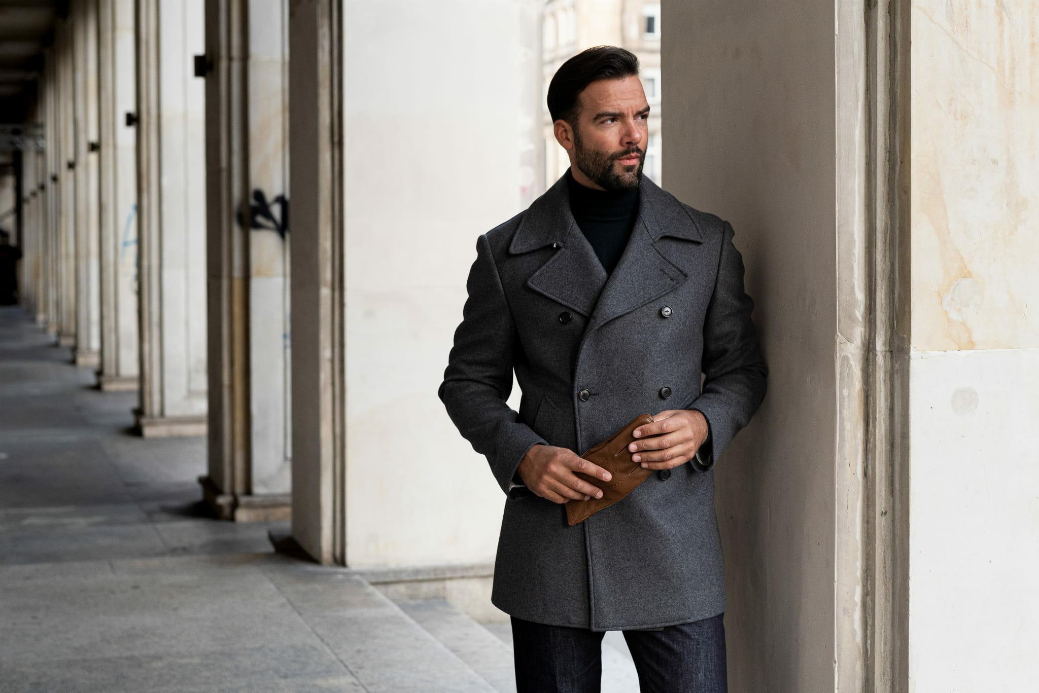 krótki męski płaszcz bosmanka