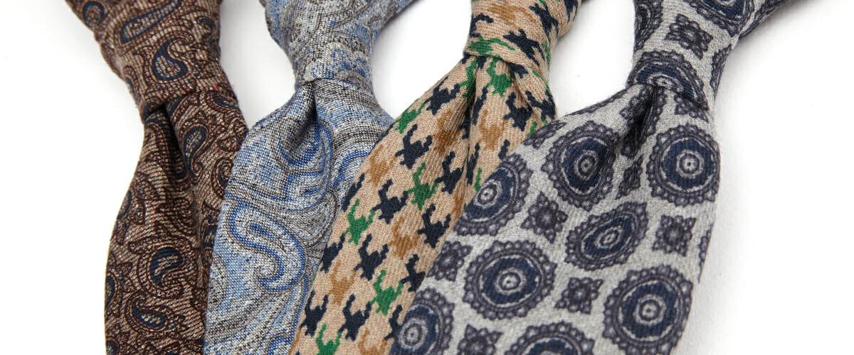 wełniane krawaty