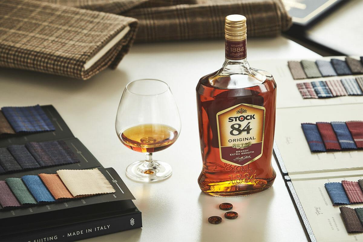 włoska brandy stock