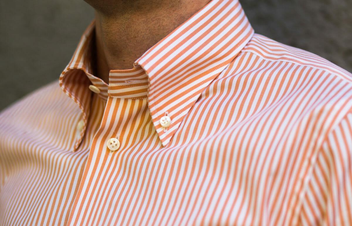 Koszula w pomarańczowe pasy