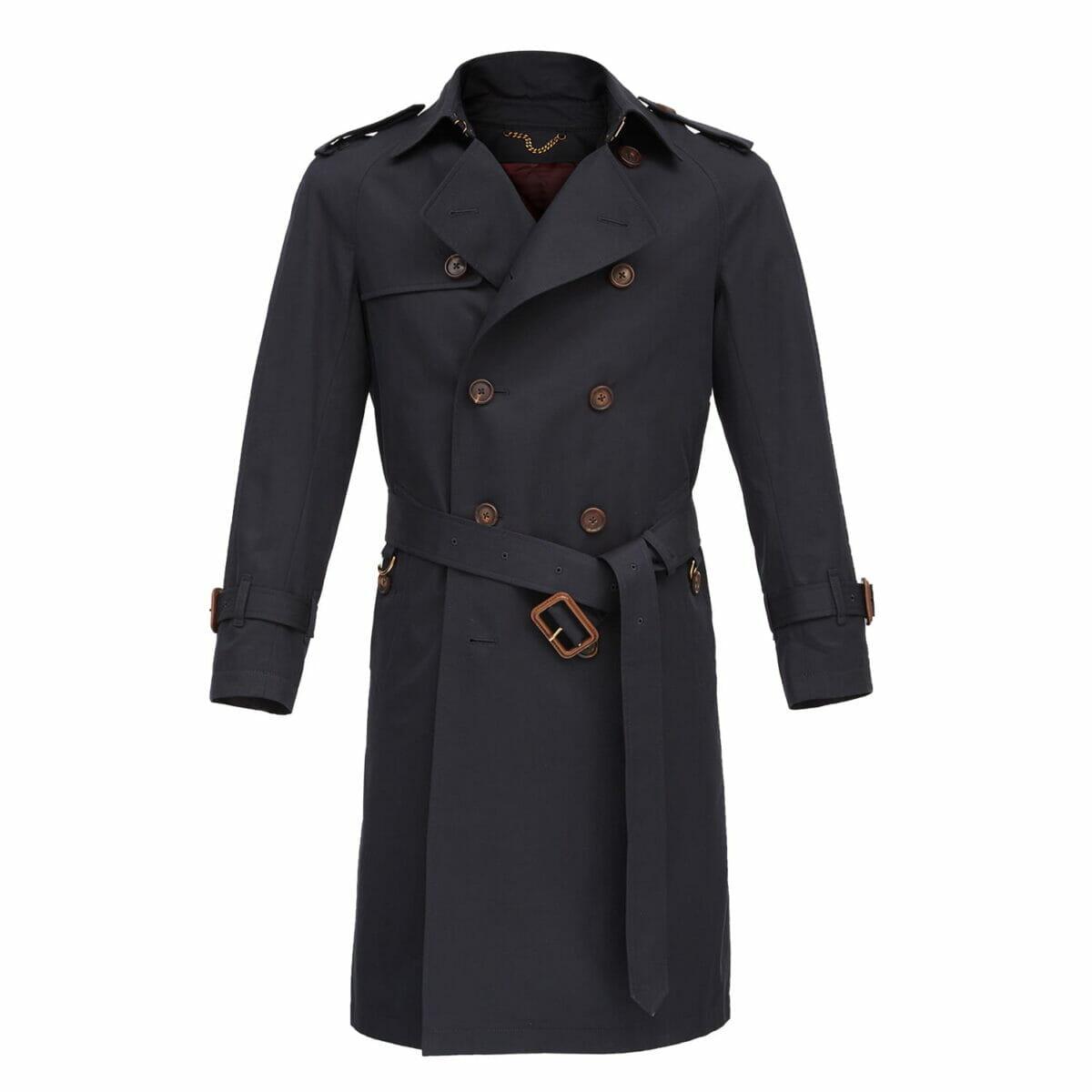 płaszcz z gabardyny