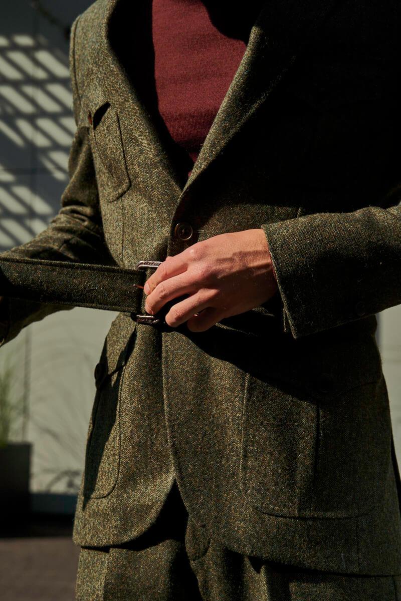 zielona marynarka tweedowa męska